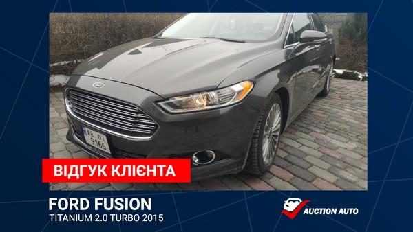 Отзыв клиента Ford Fusion Titanium 2015 c Америки